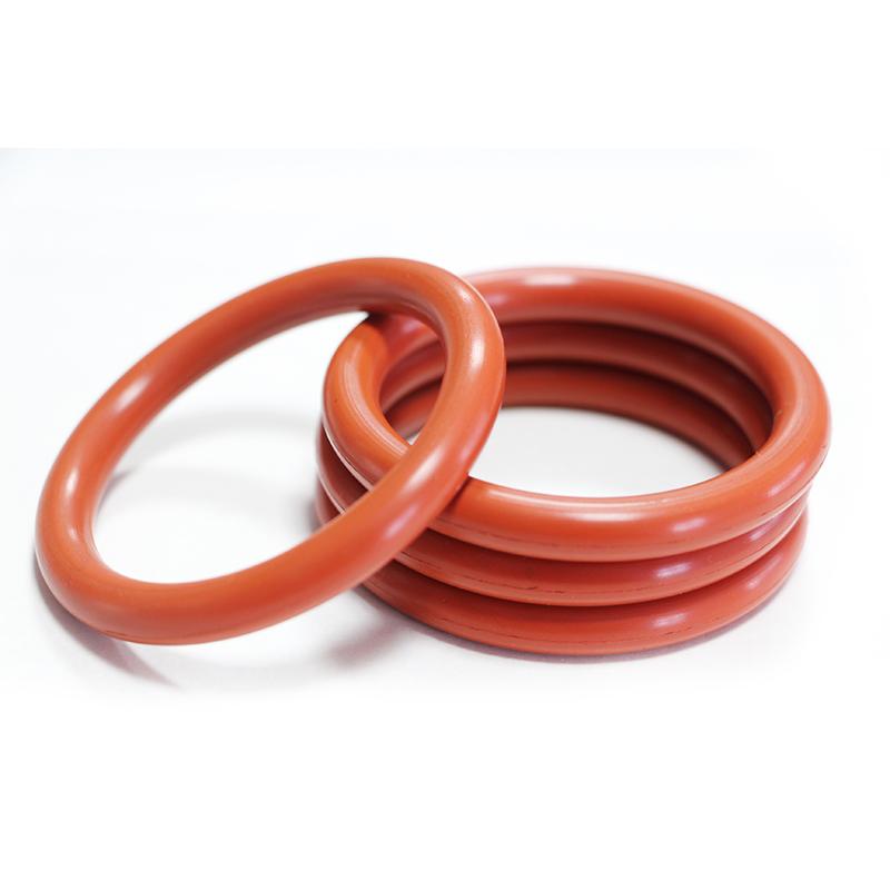 Hitzebeständige rote fkm-Dichtringe erhitzen