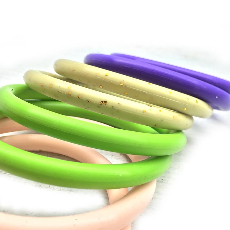 Spielzeug verwenden bunte Silikon-O-Ring